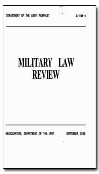 Military Law Review by Cobbs, Cabell F., Captain