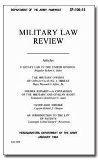 Military Law Review by Jeffers, Heyward G.