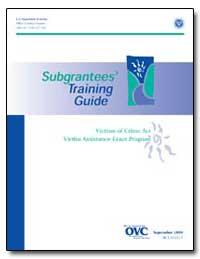 Sub-Grantees Training Guide by Turman, Kathryn M.