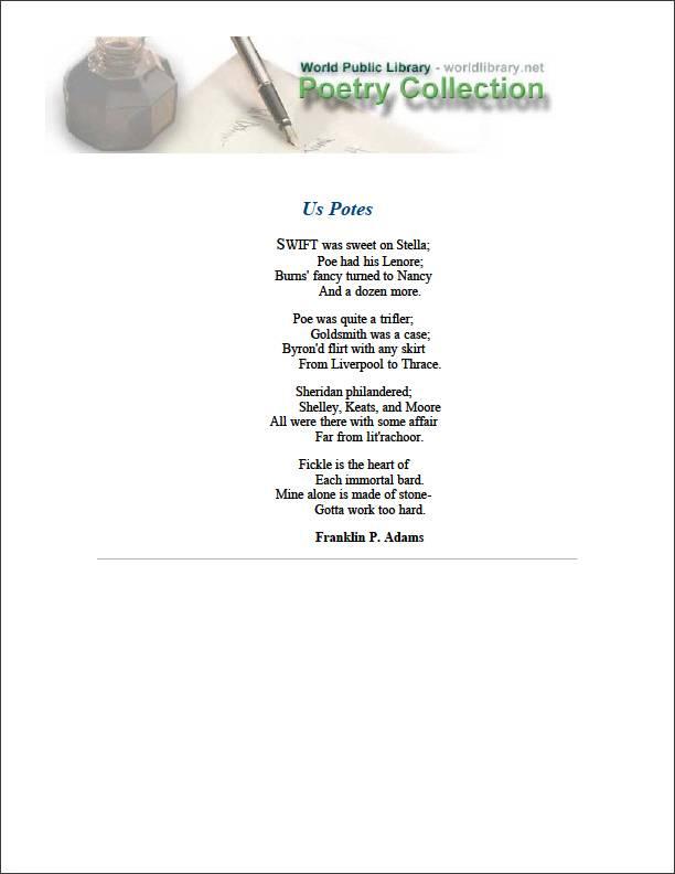 Us Potes by Adams, Franklin P. (Franklin Pierce)