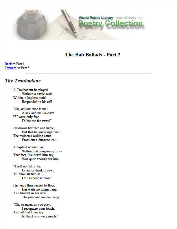 The Bab Ballads - Part 2 by Various