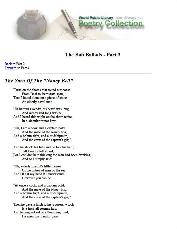 The Bab Ballads - Part 3 by Various
