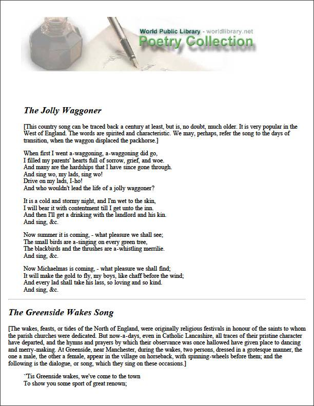 The Jolly Waggoner by Various