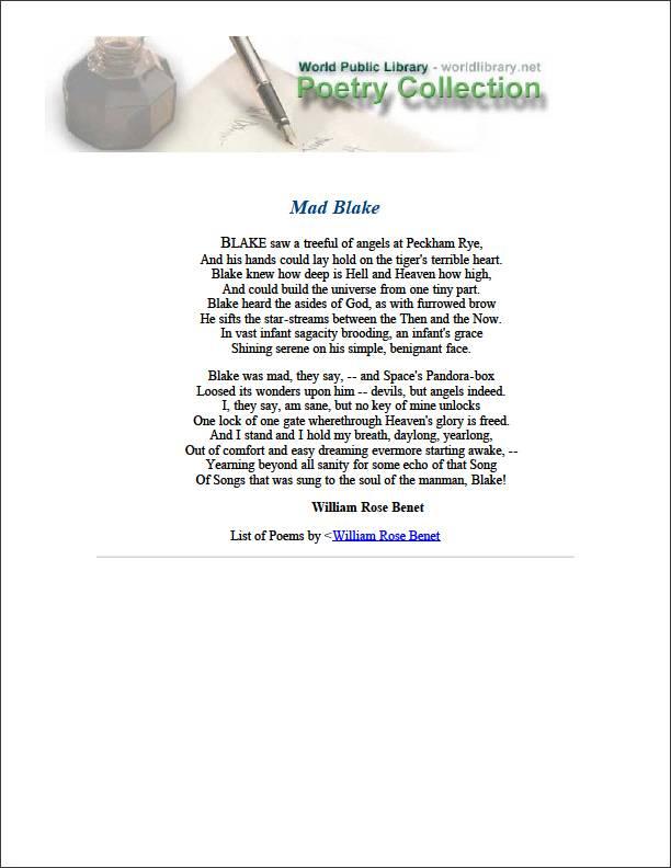 Mad Blake by Benét, William Rose