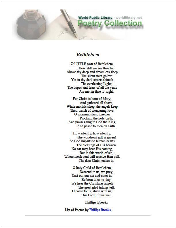 Bethlehem by Brooks, Phillips