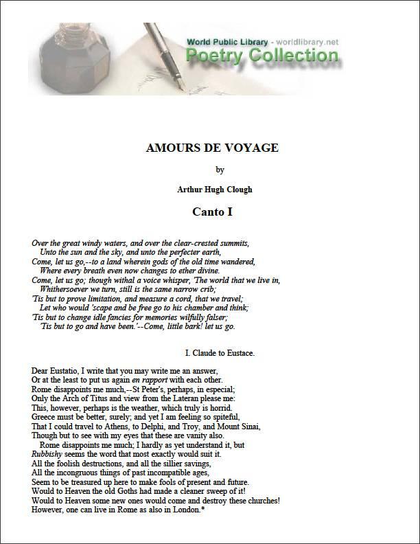 Amours de Voyage by Clough, Arthur Hugh