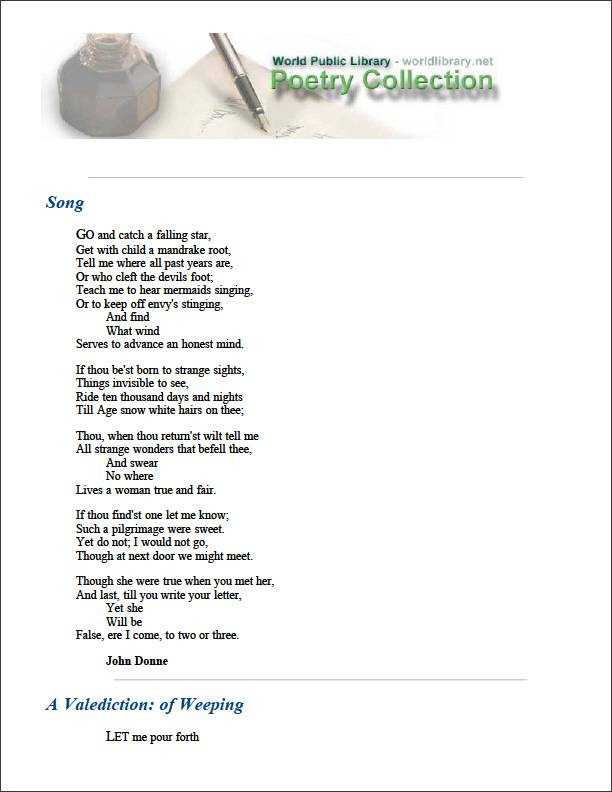 Song by Donne, John