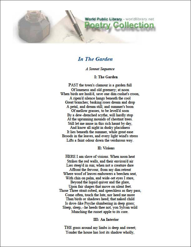 In the Garden by Dowden, Edward