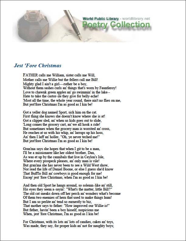Jest 'Fore Christmas by Field, Eugene