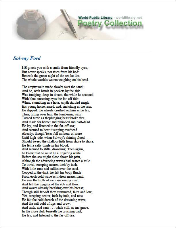 Solway Ford by Gibson, Wilfred Wilson