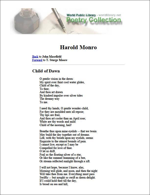 Child of Dawn by Masefield, John