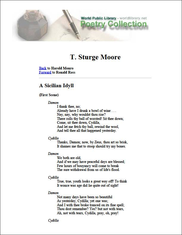 A Sicilian Idyll by Monro, Harold