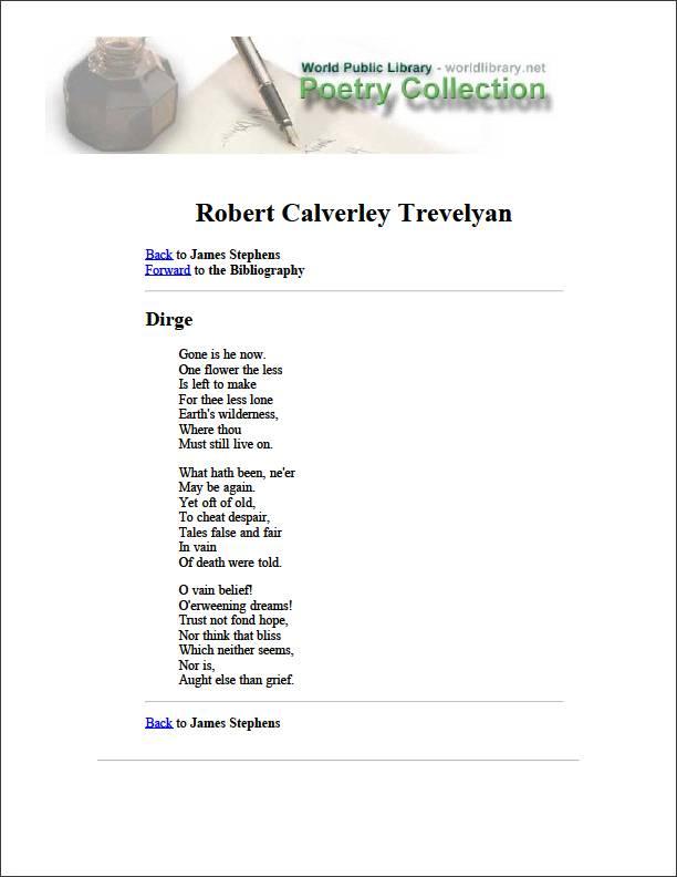Robert Calverley Trevelyan by Stephens, James