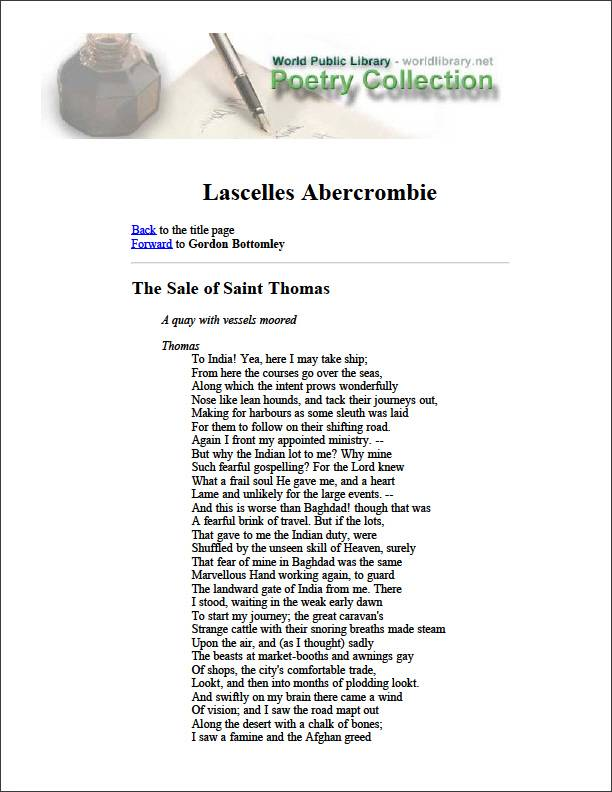 Lascelles Abercrombie by Bottomley, Gordon