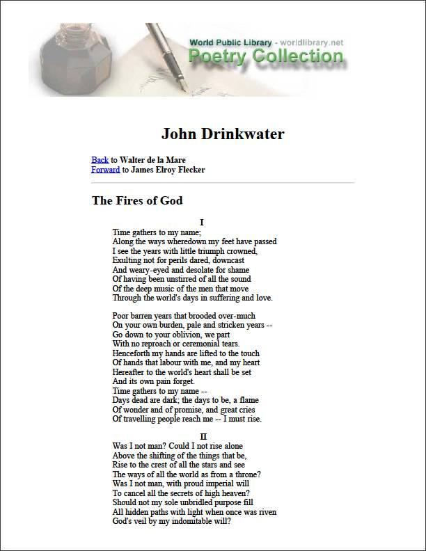 John Drinkwater by Flecker, James Elroy