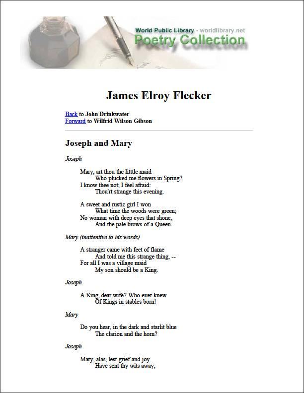 James Elroy Flecker by Drinkwater, John