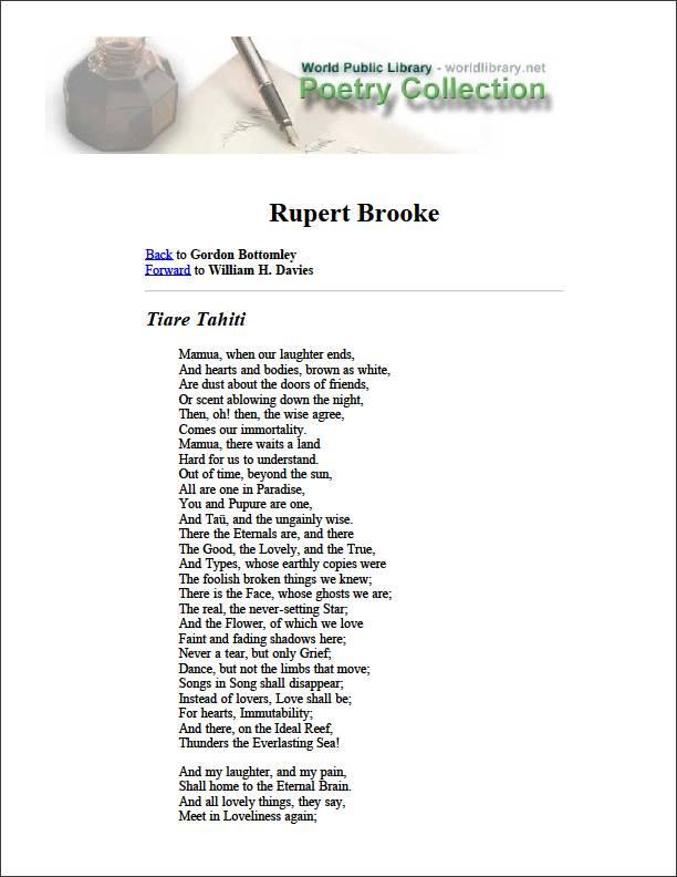 Rupert Brooke by Bottomley, Gordon