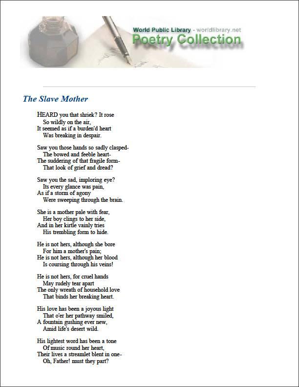 The Slave Mother by Harper, Frances E. W.