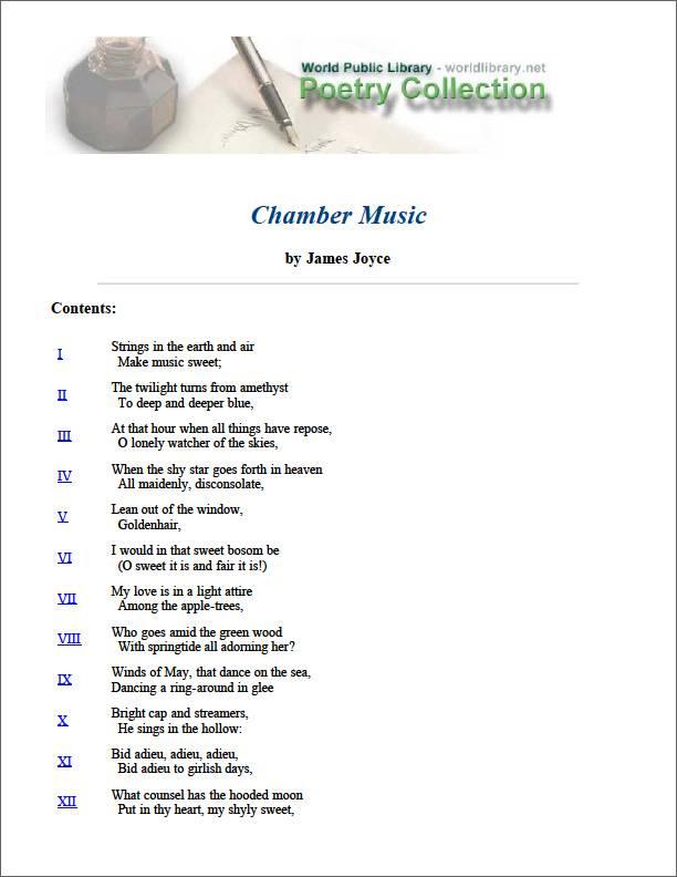 Chamber Music by Joyce, James