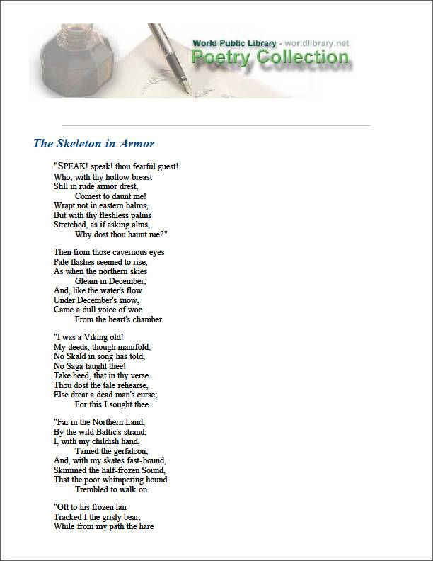 The Skeleton in Armor by Longfellow, Henry Wadsworth