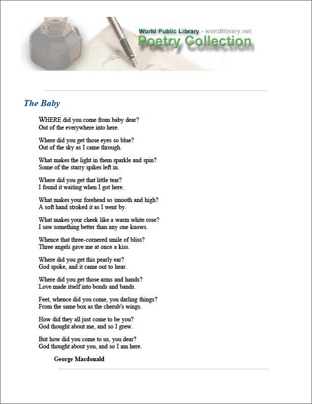 The Baby by Macdonald, George