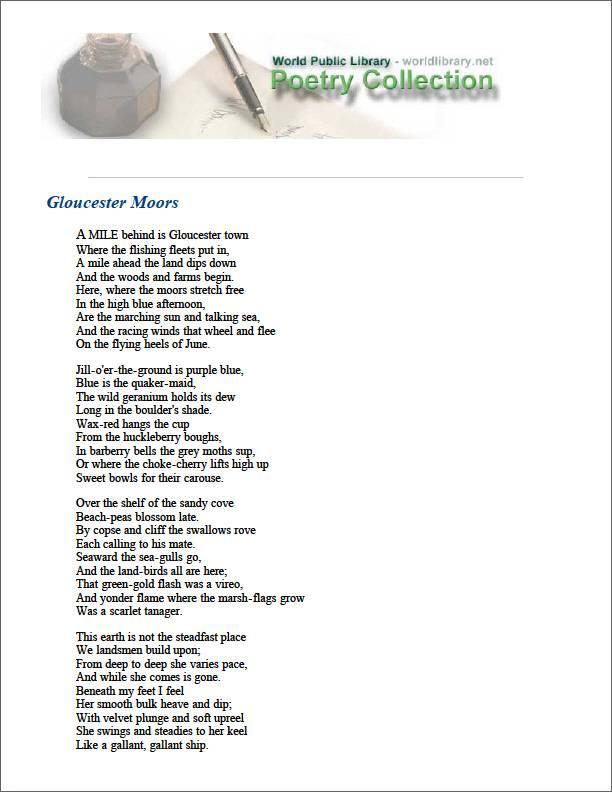 Gloucester Moors by Moody, William Vaughn