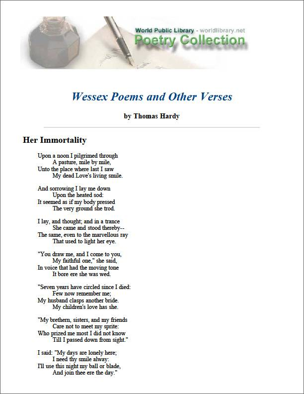 Wessex Poems and Other Verses by Hardy, Thomas