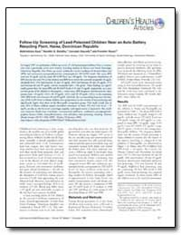 Follow-Up Screening of Lead-Poisoned Chi... by Kaul, Balkrishena