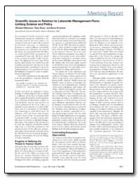 Scientific Issues in Relation to Lakewid... by Gilbertson, Michael