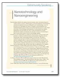 Nanotechnology and Nanoengineering by Suk, William A.