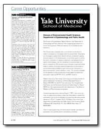 Career Opportunities Yale University Sch... by Sills, Robert C.