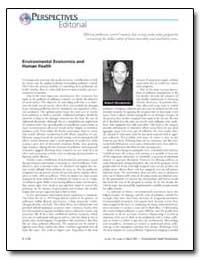 Environmental Economics and Human Health by Mendelsohn, Robert