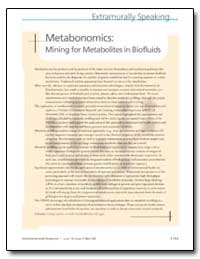 Metabonomics : Mining for Metabolites in... by Lawler, Cindy