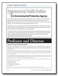 Environmental Health Position at the U. ... by Newhouse, Joseph P.