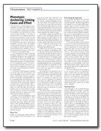 Phenotypic Anchoring : Linking Cause and... by Paules, Richard S.