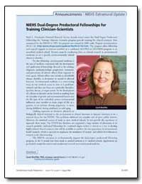 Niehs Dual-Degree Predoctoral Fellowship... by Carol Shreffler, Ph. D.