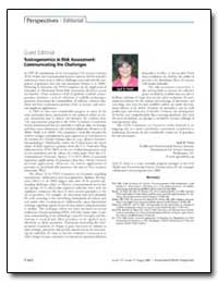 Guest Editorial Toxicogenomics in Risk A... by Pettit, Syril D.