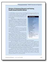 Division of Extramural Research and Trai... by Andersen, Melvin E.