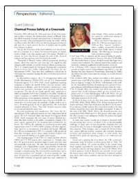 Guest Editorial Chemical Process Safety ... by Merritt, Carolyn W.
