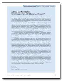 Asthma and Air Pollution What's Happenin... by Tinkle, Sally S., Ph. D.