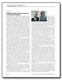 Editorial Children's Health and the Envi... by Landrigan, Philip J.