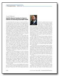 Guest Editorial Satellite Remote Sensing... by Patz, Jonathan A.