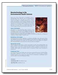 Nanotechnology in the Environmental Heal... by David Balshaw, Ph. D.