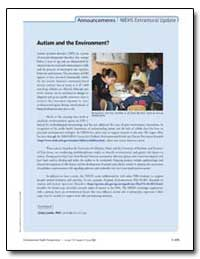 Autism and the Environment? by Cindy Lawler, Ph. D.