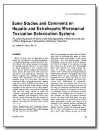 Some Studies and Comments on Hepatic and... by James R. Fouts, Ph. D.