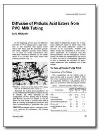 Diffusion of Phthalic Acid Esters from P... by Wildbrett, G.