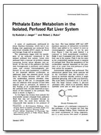 Phthalate Ester Metabolism in the Isolat... by Jaeger, Rudolph J.