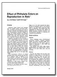 Effect of Phthalate Esters on Reproducti... by Peters, J. W.