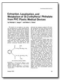 Extraction, Localization, And Metabolism... by Jaeger, Rudolph J.