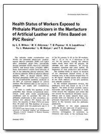 Health Status of Workers Exposed to Phth... by Milkov, L. E.